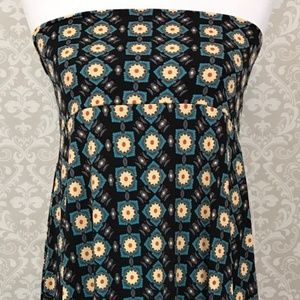 NWT LuLaRoe Maxi LARGE black blue tan